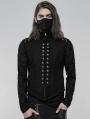Black Gothic Punk Heavy Metal Short Vest for Men
