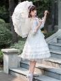 The Kiss Of Venus White Classic Lolita JSK Dress