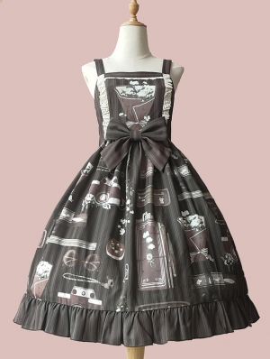 Infanta The Graduation In The Season Of Gardenia Pattern Lolita JSK Dress