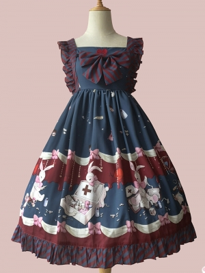 Infanta The Rabbits Of Hospital Pattern Lolita JSK Dress