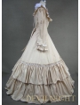 Classic Champagne and White Long Sleeves Gothic Victorian Dress