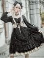 Neverland The Memories of Mammon Black Long Sleeve Gothic Lolita OP Dress