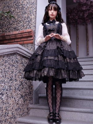 Neverland The Wishes Of Stars Black Sweet Lolita JSK Dress