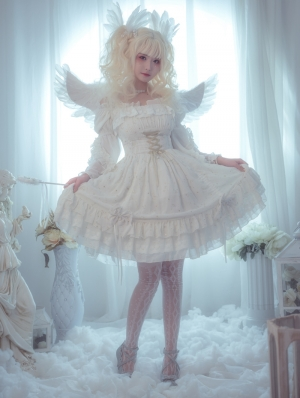 Neverland The Wishes Of Stars White Sweet Lolita JSK Dress