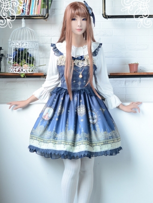 Neverland One Thousand And One Nights Pattern Lolita JSK Dress
