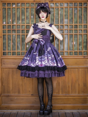 Neverland The Lights Of The hidden World Purple Japanese Style Wa Lolita JSK