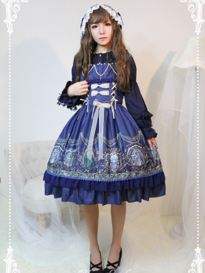 Neverland The Chant Of Raphael Pattern Lolita JSK Dress