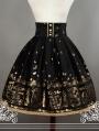Neverland Swan lake Black Velvet Lolita Corset Skirt