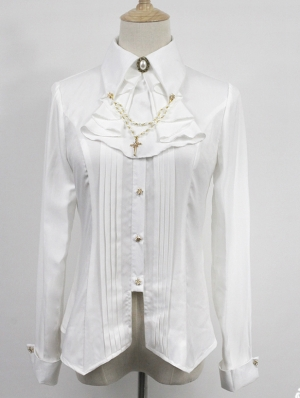 Neverland The Anthem Of Night White Long Sleeve Gothic Lolita Blouse