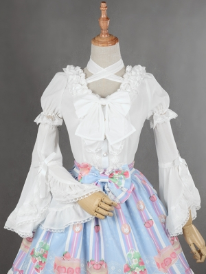 Neverland Detachable Sleeve Chiffon Classic Hime Sleeve Lolita Blouse