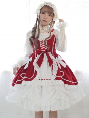 Neverland The Antique Doll Open Front Sweet Lolita JSK Dress