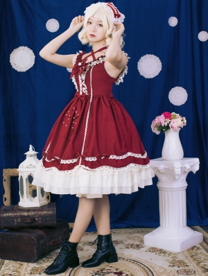 Neverland The Little Cattail Red Sweet Lolita JSK Dress