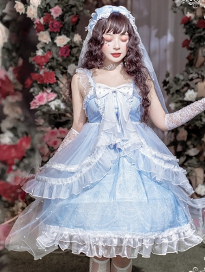 Paean Of Shinning Shell Blue Sweet Lolita JSK Dress
