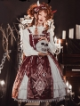 Pictorial Book of Ancient Sea Red Gothic Lolita JSK Dress