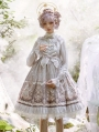 Satyrus Pattern Grey Side Opening Classic Lolita JSK Dress