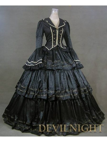 black victorian ball gown - photo #2