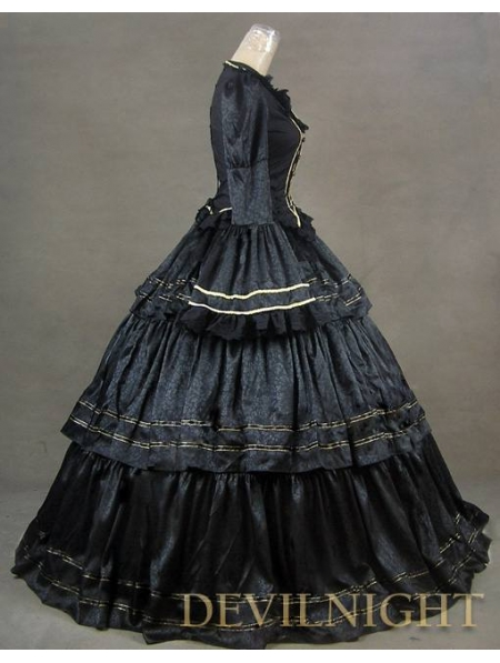 black victorian ball gown - photo #17