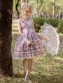 Satyrus Pattern Purple Side Opening Classic Lolita JSK Dress