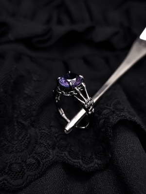 Vintage Gothic Crystal Jewel Ring