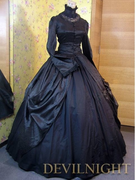 black victorian ball gown - photo #7