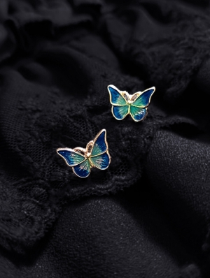 Vintage Colorful Butterfly Earrings