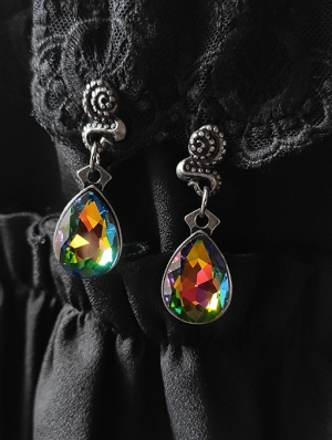 Vintage Gothic Colorful Pendant Earrings