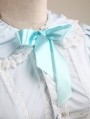 Blue Short Sleeves Sweet Lolita Blouse