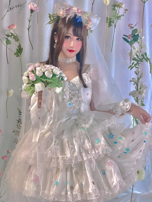 The Graduate Of Sweetheart White Sweet Lolita JSK Dress