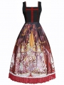 The Place Of Demon Black And Red Gothic Lolita JSK Dress