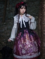 The Place Of  Demon Pattern Red Long Sleeve Gothic Lolita OP Dress