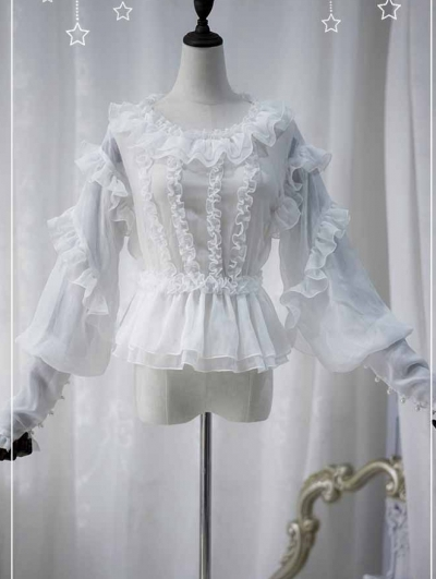 The Jellyfish Cross Long Sleeve Lolita Blouse