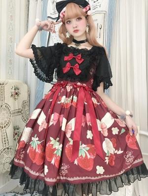 The Cherry and Strawberry Sweet Lolita JSK Dress