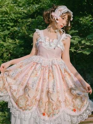 The Angel Clock Pink Sweet Classic Lolita JSK Dress