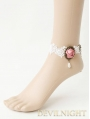 White Lace Flower Lolita Ankle Bracelet
