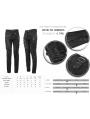 Black Gothic Punk Slim Long Pants for Men