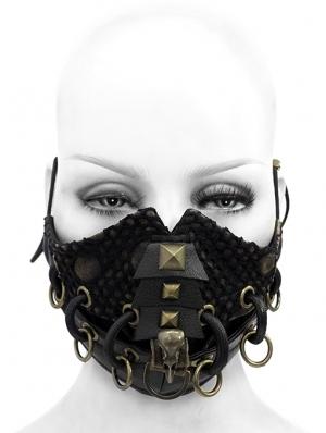 Black Gothic Punk Heavy Metal Mask