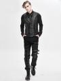 Gothic Punk Military Uniform Vest for Men