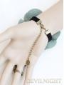 Blue Vintage Bow Pendant Lolita Bracelet Ring Jewelry
