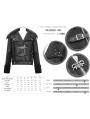 Black Gothic Punk Rock Short Winter Jacket for Men