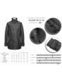 Black Gothic Simple Winter Warm Coat for Men