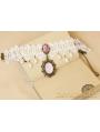 Puprle Pendant Lace Vintage Necklace
