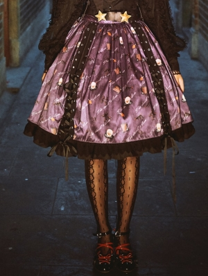 Clown's Night Pattern Gothic Lolita Skirt