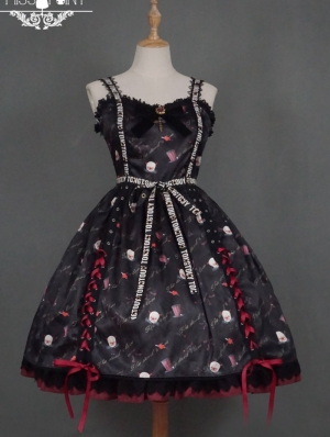 Clown's Night Pattern Gothic Lolita JSK Dress