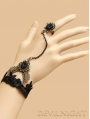Black Pendant Lace Gothic Bracelet Ring Jewelry