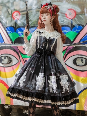 The bad cats Pattern Gothic Lolita JSK Dress