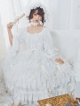 The light of day and night Gorgeous Hime Sleeve White Classic Lolita OP Dress Set