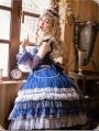 Star Night Blue Classic Lolita Tea Party JSK Dress