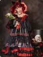 The Puppet Red And Black Long Sleeve Gothic Lolita OP Dress
