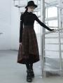 Black Street Fashion Gothic Grunge Long Sleeve Casual T-Shirt for Women