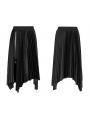 Black Street Fashion Gothic Grunge Velvet Irregular Pleated Casual Skirt